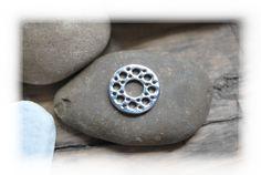 Rico Ring Aufsatz Metallscheibe silber Löcher von DaiSign auf DaWanda.com