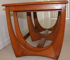 Retro Kalmar Nest of 3 Teak Coffee Tables danish era
