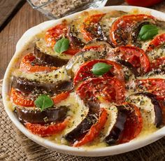 Gratin Dish, Mozzarella, Eggplant, Vegetable Pizza, Food And Drink, Vegetarian, Photo Composition, Vegan, Dishes