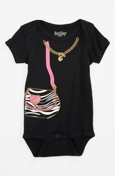 Such a cute necklace and handbag print! Love this onesie.