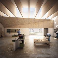 Forbes Massie / Visualisation Studio / London - Work - IF_DO / Joseph Walsh Studio Architecture Visualization, 3d Visualization, Architecture Drawings, Rendering Architecture, Interior Rendering, Interior Exterior, Interior Design, Workshop Architecture, Interior Architecture