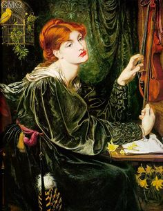 Title: Veronica Veronese, 1872  Artist: Dante Gabriel Rossetti  Medium: Hand-Painted Art Reproduction