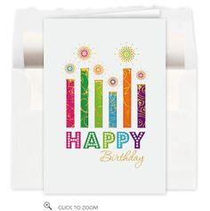 Birthday Candle Fancy Card