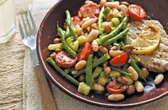 Mixed bean salad with mustard dressing - Lunch under 200 calories