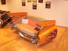 Here we have cool and creative ways to reuse cars and the car parts to make something useful and creative. Car Furniture : Cars are great . Car Part Furniture, Automotive Furniture, Automotive Decor, Unique Furniture, Custom Furniture, Furniture Making, Automotive News, Funky Furniture, Furniture Ideas