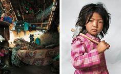 where kids sleep.Indira, 7 from Kathmandu,Nepal.