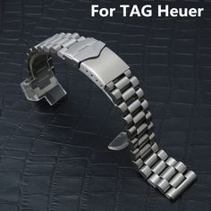 27.00$  Watch more here  - 20MM 22MM Silver Men Women Full Stainless Steel Watch Strap Butterfly Clasp Wacthband For TAG Watch Heuer LINK CARRERA With LOGO