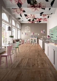 Marazzi TreverkEver Clove cm – My Pin's Cake Shop Design, Coffee Shop Design, Bakery Design, Store Design, Restaurant Design, Deco Restaurant, Cafe Interior Design, Cafe Design, Cupcake Shop Interior