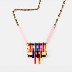 geometric perspex necklace by toolally jewellery | notonthehighstreet.com
