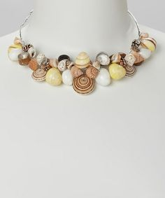Love this Natural Shell Bib Necklace by LOLO by New Dimensions on #zulily! #zulilyfinds