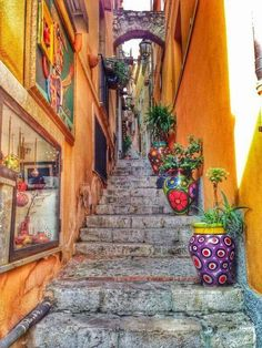 Explore The Wonderful Alleys of Taormina, Sicily. #italy #sicily #yoga…                                                                                                                                                                                 More