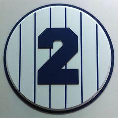 Derek Jeter Retired Number plaque 2 #yankees #DerekJeter #NYY #retirednumber #plaque