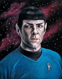 """Spock"""" by Bruce White The Official Bad Robot Art Experience is an upcoming group art show at (West) in Los Angeles featuring a collection Film Star Trek, Star Trek 2009, Star Trek Series, Paintings Tumblr, Velvet Painting, Star Trek Into Darkness, Pop Culture Art, Robot Art"""