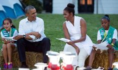 President Barack Obama and First Lady Michelle Obama hosts Girl Scout campout on White House lawn