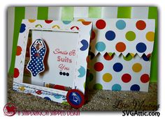 SVG Attic Blog: Tent Cards and Fishing Line with Lisa #svgattic