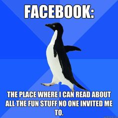 Saw a special needs kid at Blockbuster searching for a game and try to help him out super awkward, so parents think i'm being a douche. got reported to the manager and kicked out Socially Awkward Penguin Anxiety Cat, Social Anxiety, Infp, Thats The Way, That Way, Socially Awkward Penguin, Come Undone, Teenager, Penguins