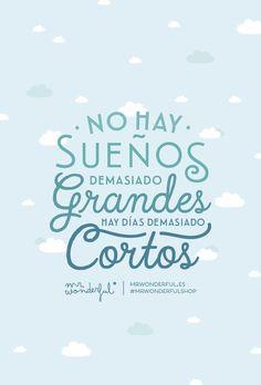 No hay sueños demasiado grandes, hay días demasiado cortos Mr Wonderful