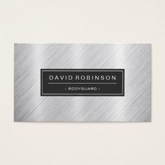 The 195 best security guard business cards images on pinterest bodyguard modern brushed metal look business card reheart Choice Image