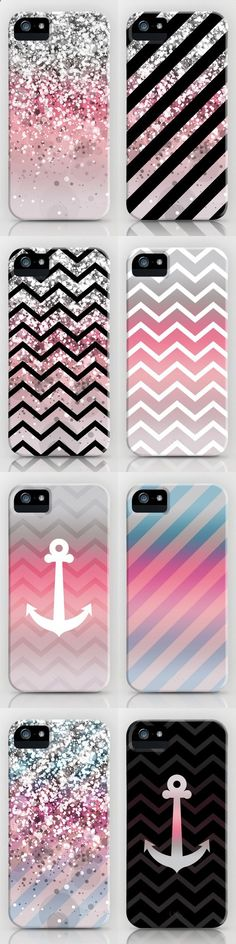 Phone Cases - Super belle coque rose, gris pailleter et noire et blanc.