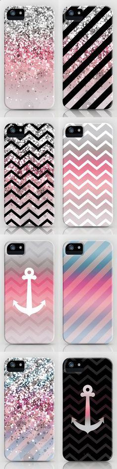 Phone Cases - Super belle coque rose, gris pailleter et noire et blanc.