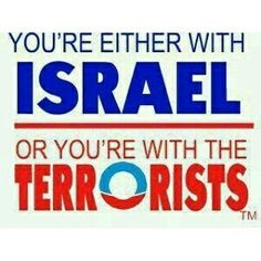 I choose  to stand with Israel