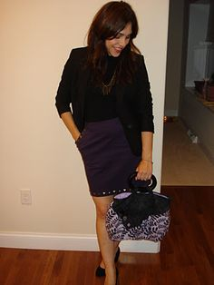 Snapshot Fashion Tote...gorgeous purple and love the buttons!