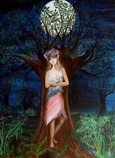 Peinture sur toile : L'esprit de l'arbre : Peintures par marie-lumiere