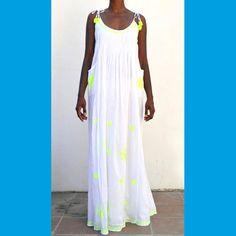 89,90EUR SLUIZ IBIZA Kleid lang mit neon gelb