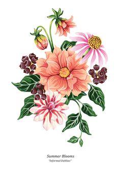 Summer Blooms on Behance