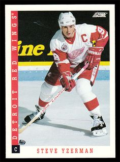 Steve Yzerman # 310 - 1993-94 Score Hockey Hockey Cards, Baseball Cards, Steve Yzerman, Collector Cards, Detroit Red Wings, Scores, Trading Cards, Nhl, Mint