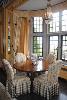Pretty skirted chairs