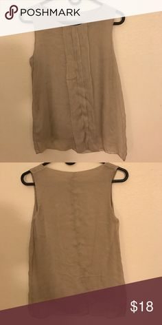 Silky Blouse Blouse is light gray. Very soft material. Made in Italy Tops Blouses