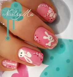 nails designs easter 2014 | Easter Bunny Nail Art Designs Ideas 2014 For Beginners 15 Easy Easter ...