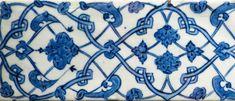 Carreau de bordure - Iznik, vers 1512