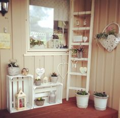 Cute decoration for the shed/possible outhouse when you're doing your gardening