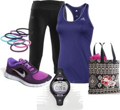 """RUNNING IN STYLE"" by janiemoore on Polyvore"