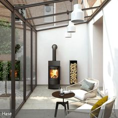 porches cozy home Kaminofen Luno Kaminofen Luno toll hier im Wintergarten! House Extension Design, Glass Extension, Garden Room Extensions, House Extensions, Patio Interior, Interior Design, Salons Cosy, Living Room Decor Cozy, Marquise