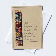 Inspirational Card,Handmade Greeting Card,Art Quotes,Inspirational Quote,Original Art Card,Richard Wolfson,Vicki Bolen,Thanksgiving Card