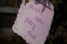 make your own fairy dust (glitter, etc in bottles)