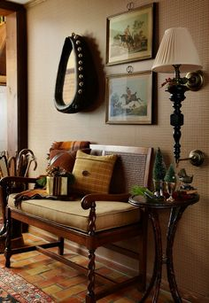 Equestrian-Themed Entryway - via The Polohouse: Midwest Living