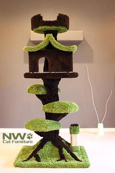 Cat Furniture, Cat Trees, Cat Condos, Cat Towers, Cat Tree Condos - NW Cat Trees My cats would be up on this! Cat Tree House, Cat Tree Condo, Cat Condo, Diy Pour Chien, Cat Towers, Cat Room, Pet Furniture, Blue Cats, Cool Pets
