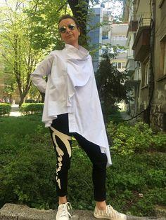 71f602db5cd Блузки ручной работы. Экстравагантная и модная женская рубашка белая. Мария  Иванова (StudioMariya)