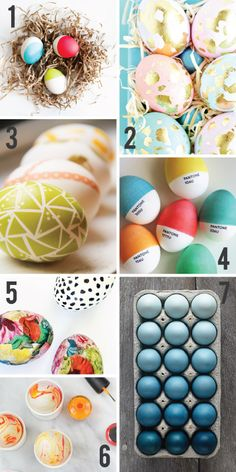 Not Your Grandma's Easter Eggs // 7 Easter Egg Decorating Ideas // 7thhouseontheleft.com