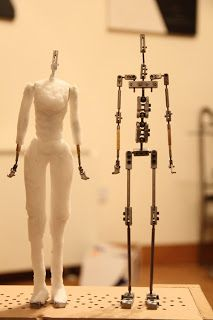 The next step was to flesh out the armatures with upholstery foam. Before I did this I wrapped the armature in plumbers teflon tape like thi...