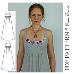 Dress Pattern for Women - Women Dress Sewing Pattern - Women dress pattern - Maxi Dress pattern affiliate link Short Beach Dresses, White Maxi Dresses, Casual Dresses, Clothing Patterns, Dress Patterns, Diy Dress, Dress Sewing, Vestidos Vintage, Outfit
