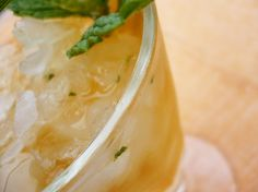 The Norma Jean: gin, Cynar, lemon, simple syrup, mint