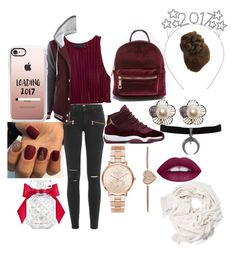 """""""welcome to 2017😘😍"""" by lilshawtyt ❤ liked on Polyvore featuring Paige Denim, Michael Kors, Casetify, L.A. Girl and Victoria's Secret"""