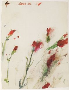 Cy Twombly. . Untitled, No. 4 in the series 'Carnations',... #abstractart