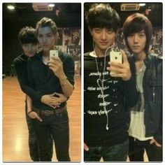 Predebut Tao Kris and Luhan. Let's just take a moment to admire Lu's perfection.....