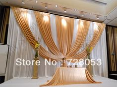 Romantic Wedding Background Wedding Party Decor Stage Backdrop Curtain $119.29